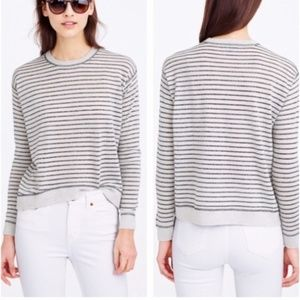 j. crew sweater  ,Merino Wool Metalic striped,
